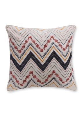 Levtex Madhu Chevron Pillow - Navy - 20 X 20