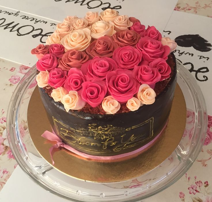 2017/08/02 rose box cake