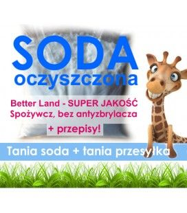 Soda oczyszczona, super Jakość i cena, 1kg, BetterLand