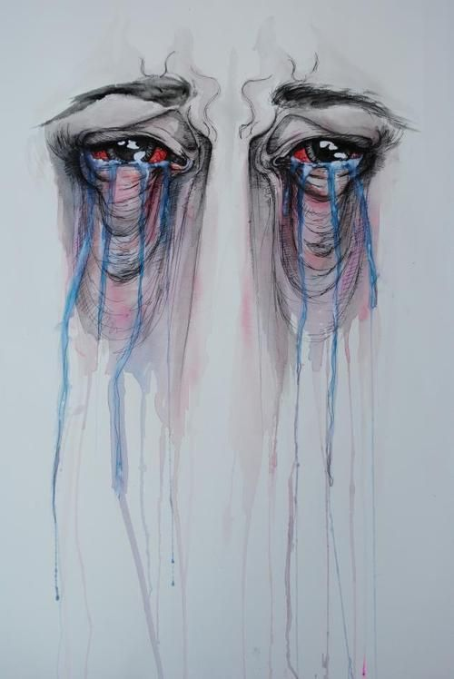 Eyes Crying Tears To The Sky Illusion