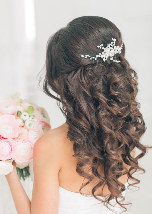 35 best wedding hair images on pinterest half up wedding hair wedding hairstyle inspiration junglespirit Images