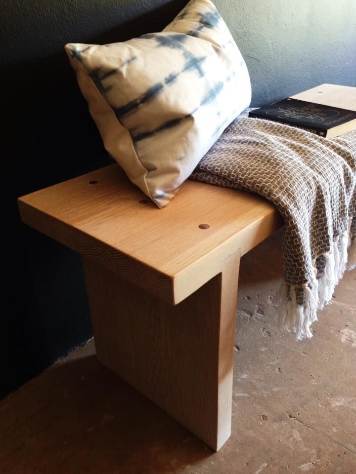 Another client commission, a Solid Oak Bench handmade by freerangeboy.  Before your next furniture shopping trip, remember that we can create custom, one of a kind pieces that are tailored to your decor style. Contact us with your enquiries: erin@freerangeboy.co.za // dave@freerangeboy.co.za   #design #furniture #homedecor #interiordesign #interiordecor #freerangeboy #interior #upcycled #upcycling #homeware #accessories #southafrica #vintage #antique #timber #reclaimed #rustic #handmade…