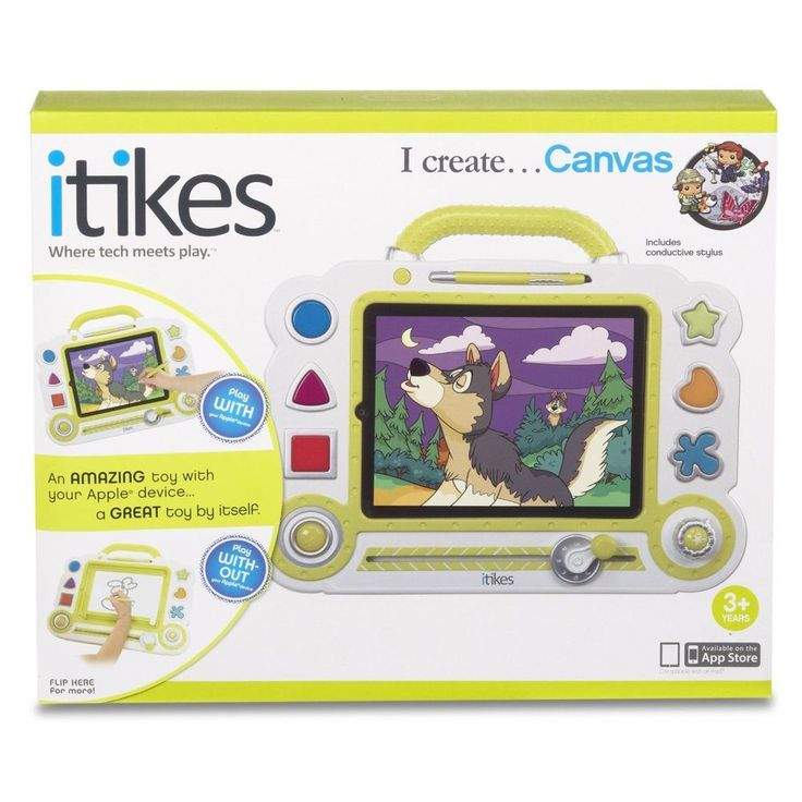 iTikes Canvas Doodle Drawing Art Interactive Sketch Tablet Pad Apple Toy NEW #LittleTikes