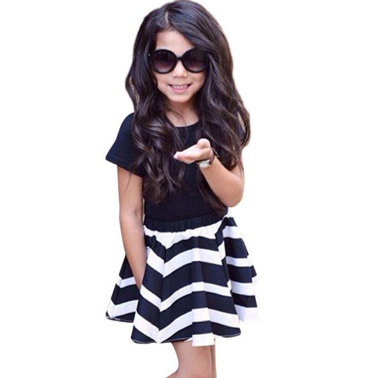 Trendy Striped Skirt Set