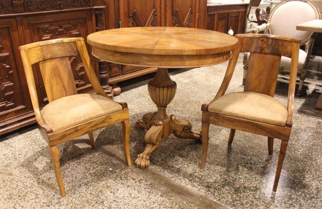 table and antique french round restauration dining table and chairs in