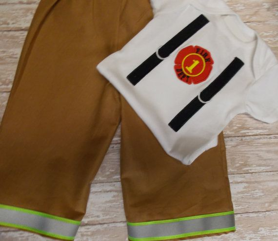 Baby Firefighter turnout gear outfit baby Fire fighter