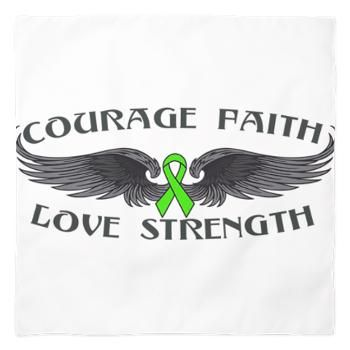 Lymphoma Courage Wings Bandana #lymphoma #lymphomaawareness #lymphomashirts