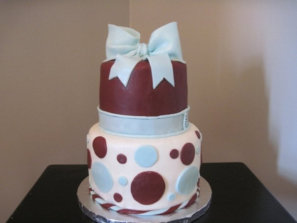 Modern Baby Boy Baby Shower Theme Cake