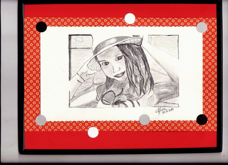 "Schita portret in creion dupa fotografie ""Alexia"""
