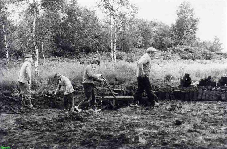 0210481_001 Coll. chr. Warnar 1978: Turfstekers in de Peel. Wie?