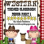 This is a ROOTIN TOOTIN Western Theme Decor and is perfect for your western themed classroom!  Note: This is PART 1 of my Western Theme Decor Pack....