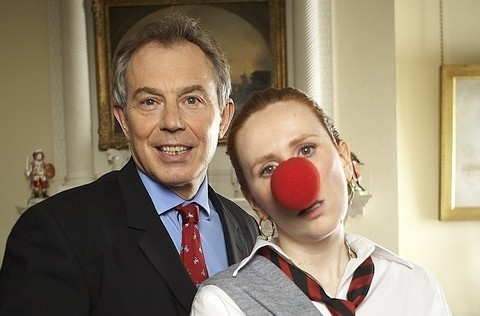 Catherine Tate's infamous character Lauren 'bovvers'' the then Prime Minister Tony Blair for Red Nose Day 2007.