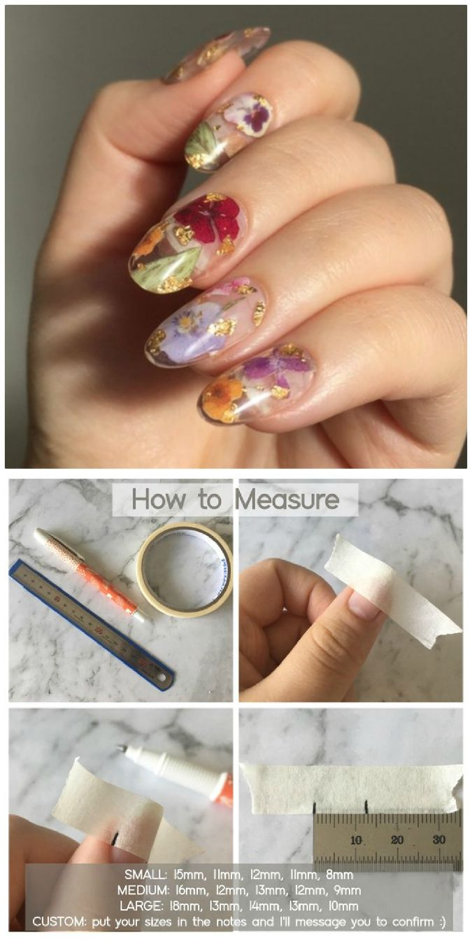 We Are In Love With These Dried Flower Press On Nails