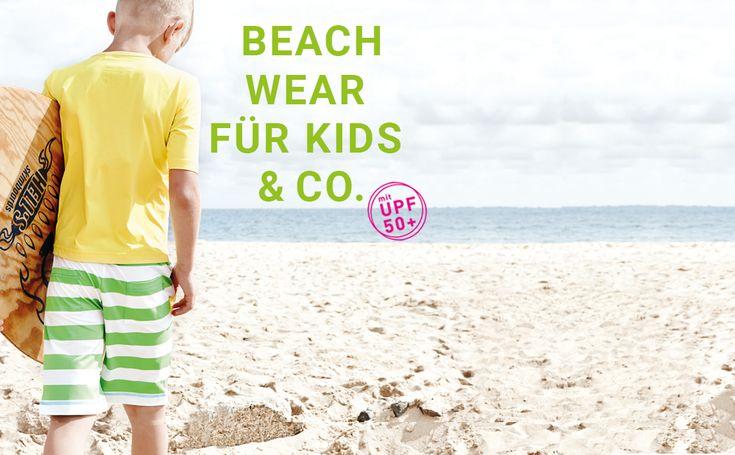 UV-Schutzkleidung für Kinder, Kinderbademäntel aus 100% organic cotton, hübsche Strandkleider für Damen und Sommer-Accessoires für die ganze Familie.