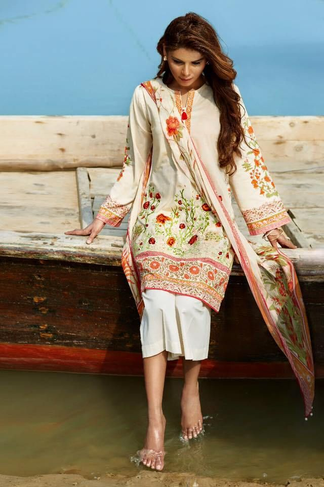 Beech Tree unstitched Summer lawn collection 2016