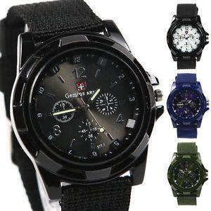Wrist Watch Mens Unisex Sport Quartz Military Army Style Canvas Belt Analog   eBay