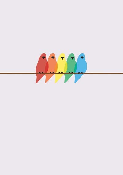 Birds  by Emma J HardyIphone Wallpaper Rainbow, Birds Prints, Birds Art, Rainbows Birdie, Prints Ideas, Art Prints, Colors Birds, Colors Birdie, Emma Hardy