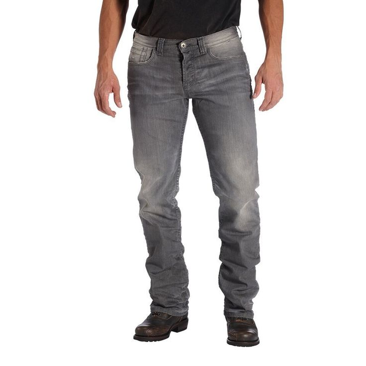 ROKKER Jeans Rebel Grey - motorcycle jeans abrasion resistent