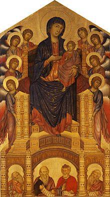 Cimabue, Madonna con el Niño, 1286, Galleria degli Uffizi, Florencia