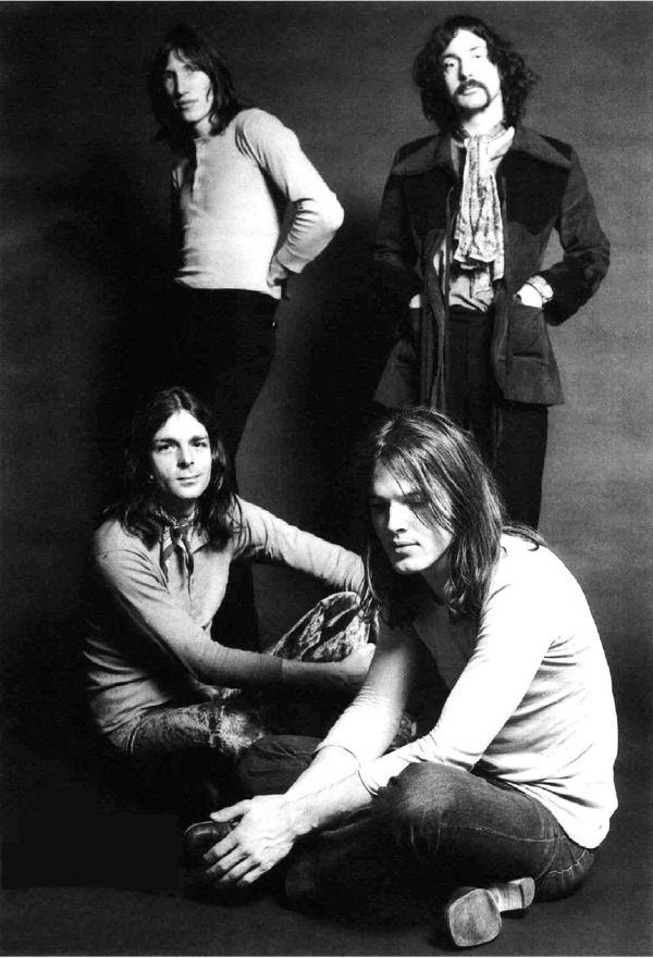 Sir David Gilmour, Rick Wright, Roger Waters and Nick Mason..........never a better combo.