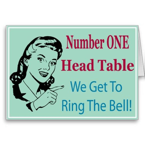 Add this fun table card to your Bunco gear.  This Bunco graphic design is sure to be a winner at your next Bunco event.  Perfect for the number one head table that get's to ring the bunco bell.
