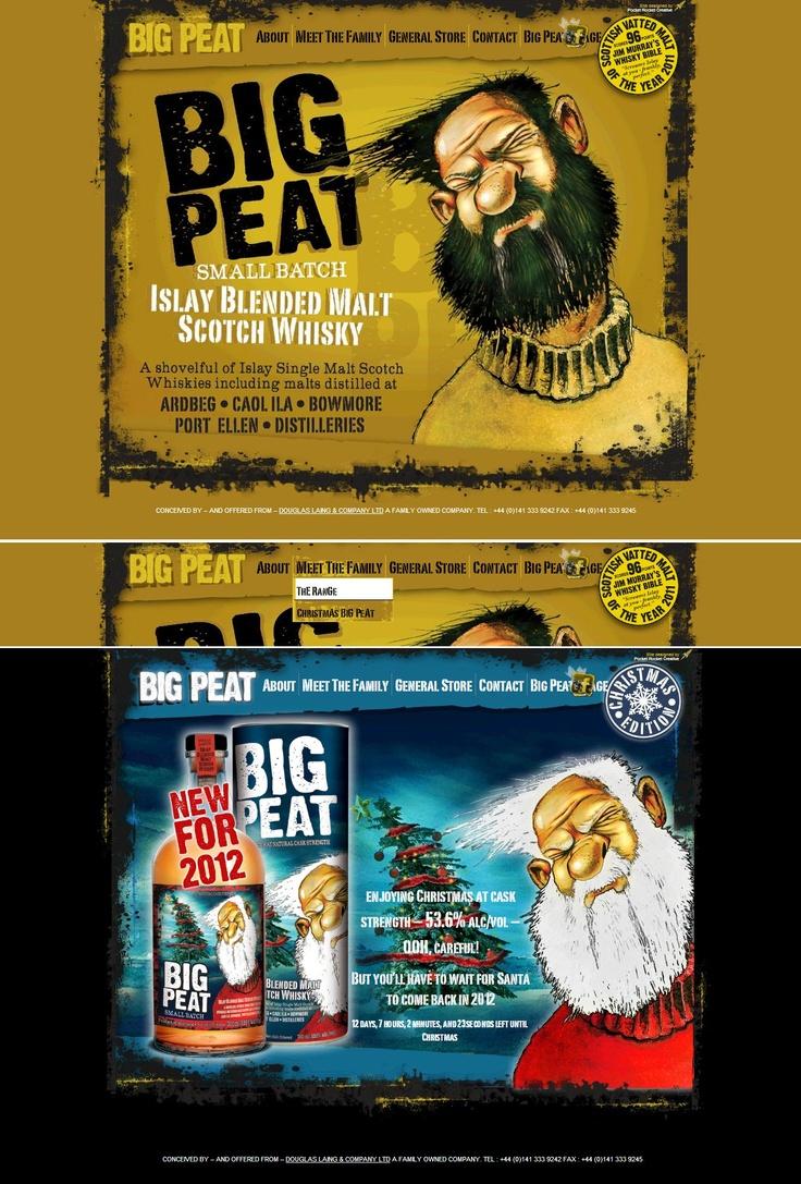 Big Peat's website layout 2012