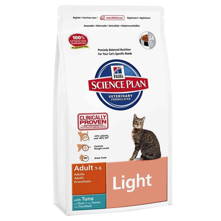Animalerie  Hills Feline Adult Light thon pour chat  3 x 5 kg