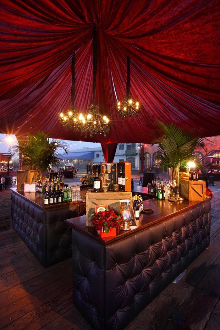 Boardwalk Empire Premiere lounge. love the look.