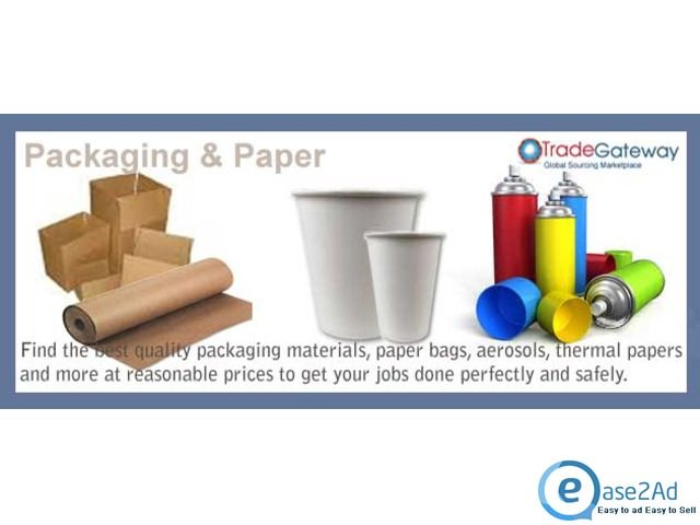 All Kind of Packing and Printing Materials at Tradegateway.com