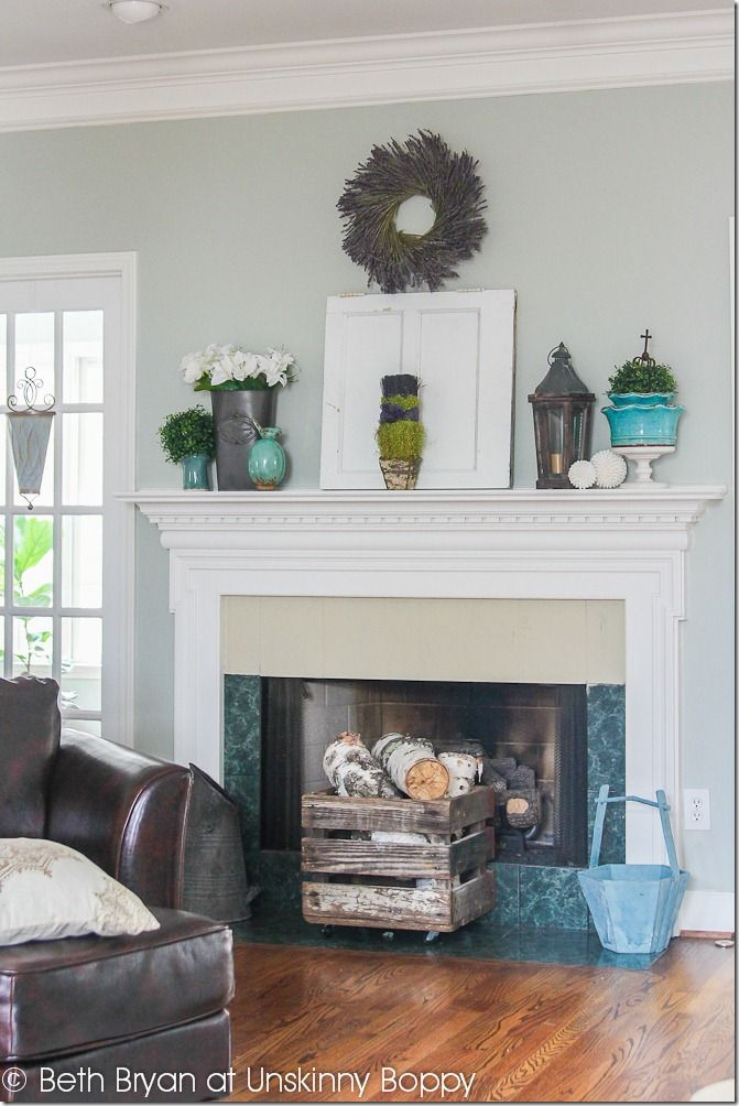 Mantel Decorating Extraordinary With Spring Fireplace Mantel Decorating Photo