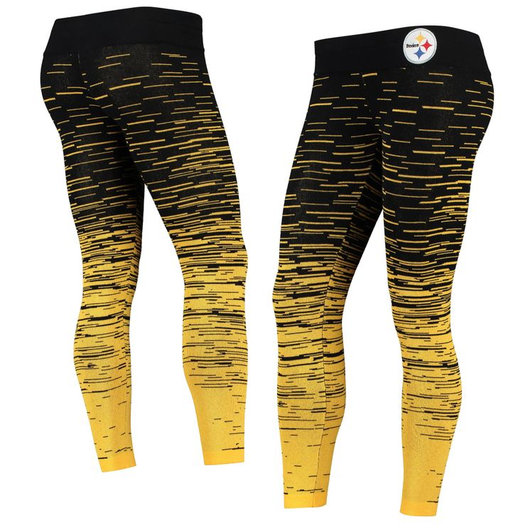 Pittsburgh Steelers Women's Black Static Knit Leggings in