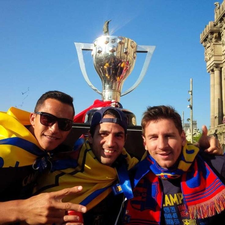 Alexis Sanchez, Cesc Fabregas, Lionel Messi <3
