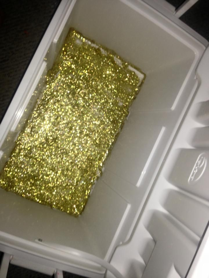 Glitter bottom Cooler | The Cooler Connection on Pinterest