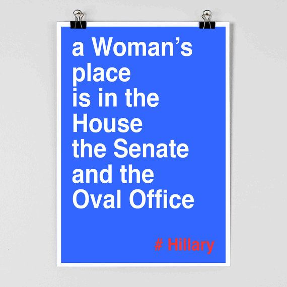 I'm not crazy about the hashtag, but this is something that needs to be in my house. Hillary Clinton Poster  Hillary 2016  Feminist by FlyingPalmStudio, $11.00