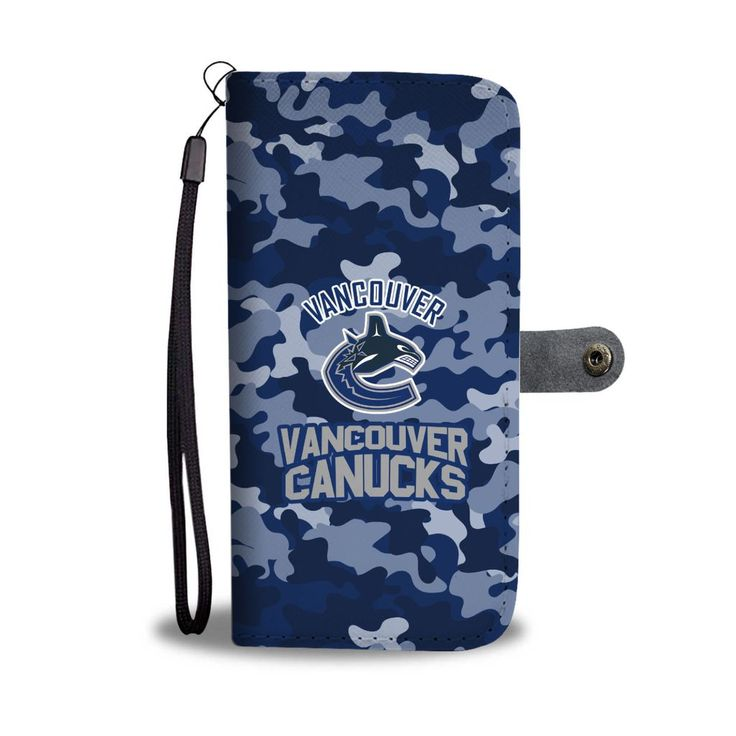 Camo Pattern Vancouver Canucks Wallet Phone Cases – Best Funny Store