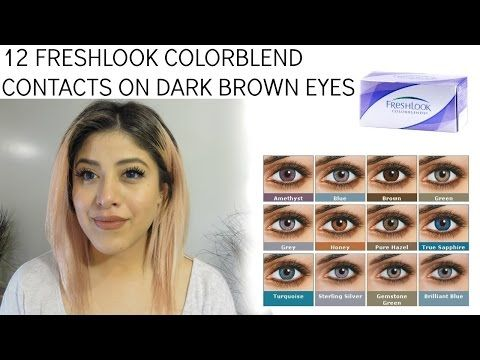 Solotica Colored Contacts for Brown Eyes Best Review - YouTube