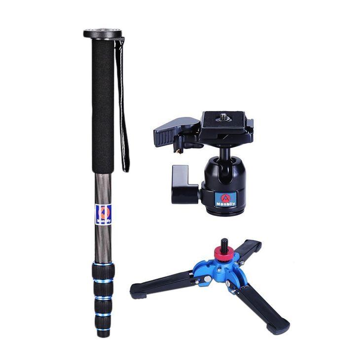 "Manbily Camera Monopod C-222+M-1 base+M-10 Ball head Kits Camera Stabilizer Tripod Walking Stick 65"" For Canon Nikon DSLR //Price: $79.79//     #storecharger"