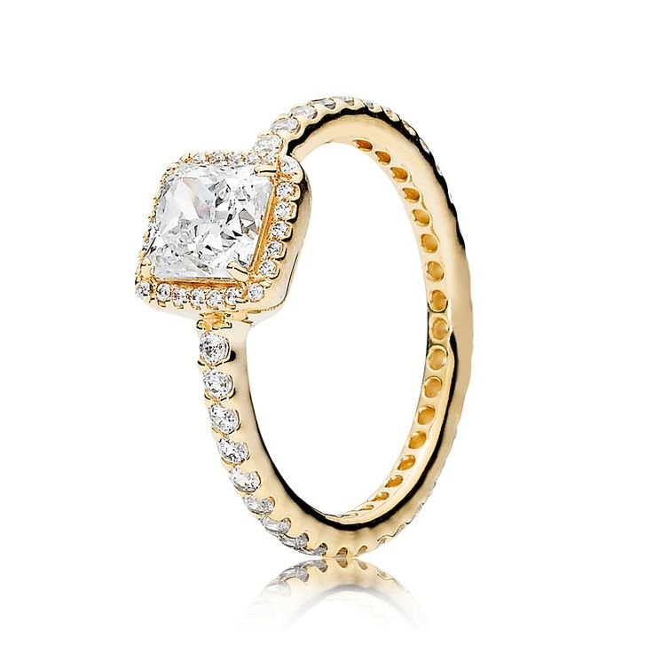 Pandora Gold Timeless Elegance Ring 150188CZ Cheap