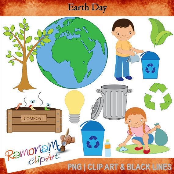 Earth Day Clip art by RamonaMClipArt on Etsy