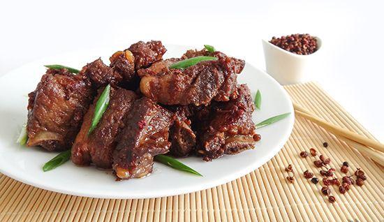 Свиные ребра по-сычуаньски (Pork Ribs Szechuan Style). Китайская кухня. Сычуаньский перец - желтодревесник