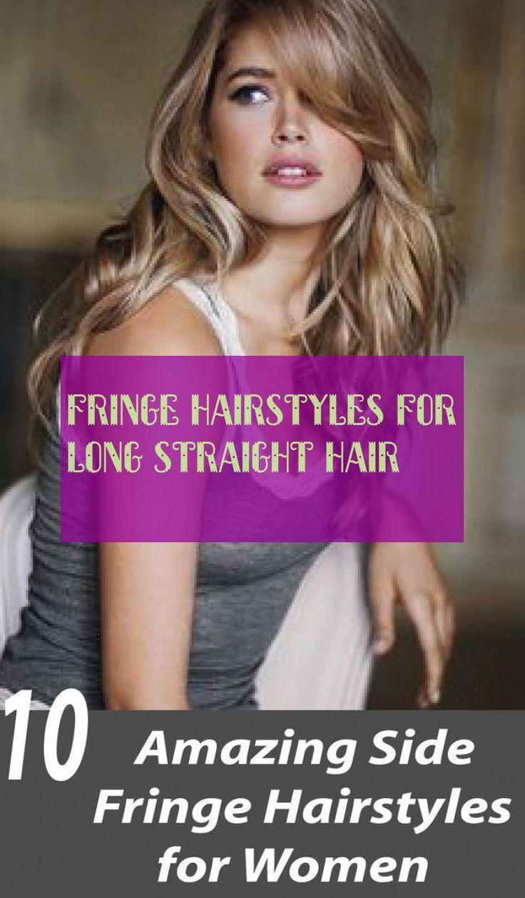 fringe hairstyles for long straight hair   fransenfrisuren für langes glattes haar hairstyles with fringes for long, smooth hair #fringe #hairsty ...