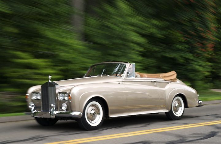 ZsaZsa Bellagio – Like No Other: In the Men's Room Sammy Davis, Jr.'s 1963 Rolls-Royce Silver Coud III Drophead Coupe.