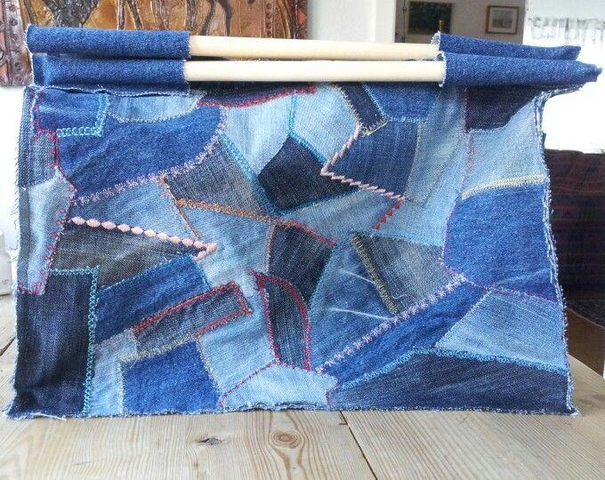 Väska av jeans-scraps