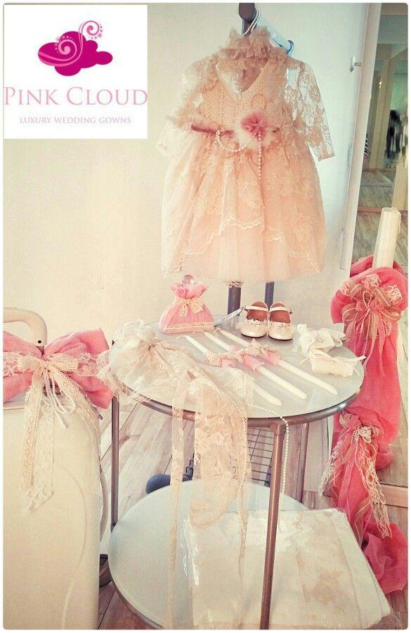 Βαπτιση/pink_cloud/κοριτσι/vintage/φορεμα/περλες/βαλιτσα/λαμπαδα/δαντελα