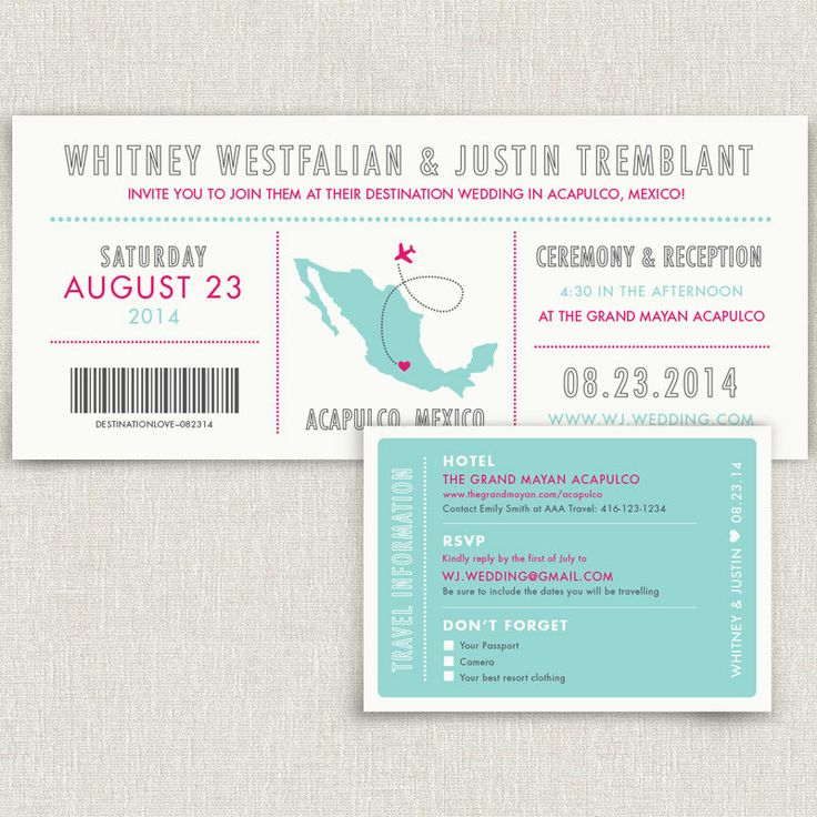 Journey  Modern destination wedding invitation by papertalkpress, $4.00