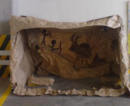 Stone age art cave: