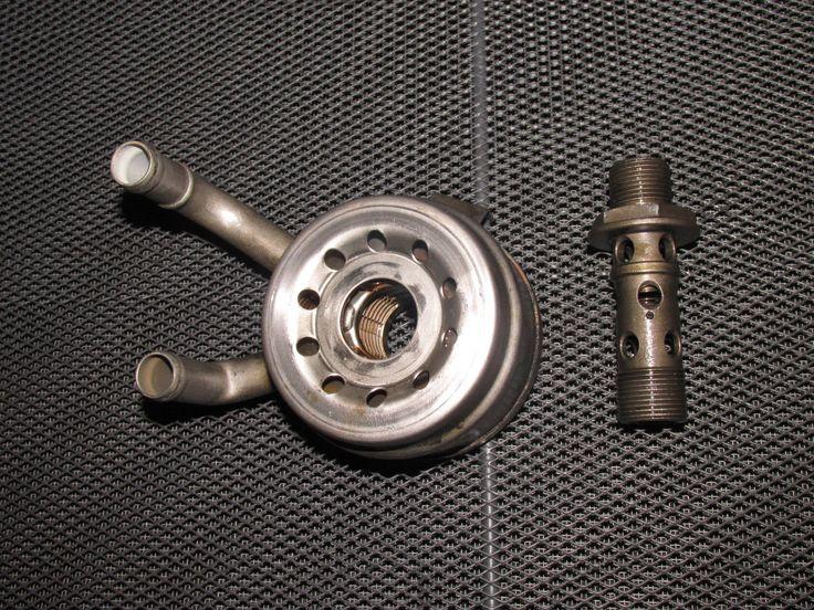 93 94 95 Honda Del Sol OEM B16 Engine Oil Filter Adapter Cooler Block
