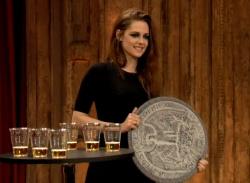 "Kristen Stewart Plays ""Giant Quarters"" Drinking Game on Jimmy Fallon (VIDEO)"