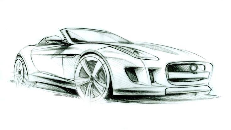 jaguar car drawing - photo #11