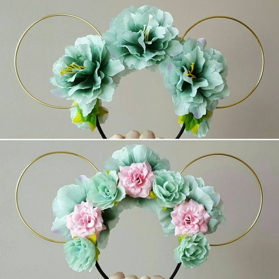 Neverland Mermaid Inspired Floral Wire Minnie Ears by EarsByErin
